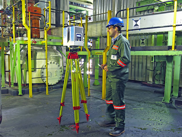 Laser Scanning of a Chemical Plant