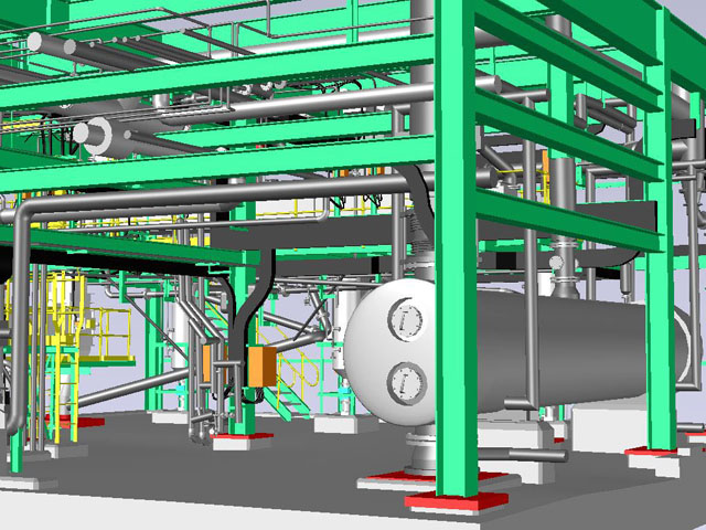 3D Model of Chemical Plant